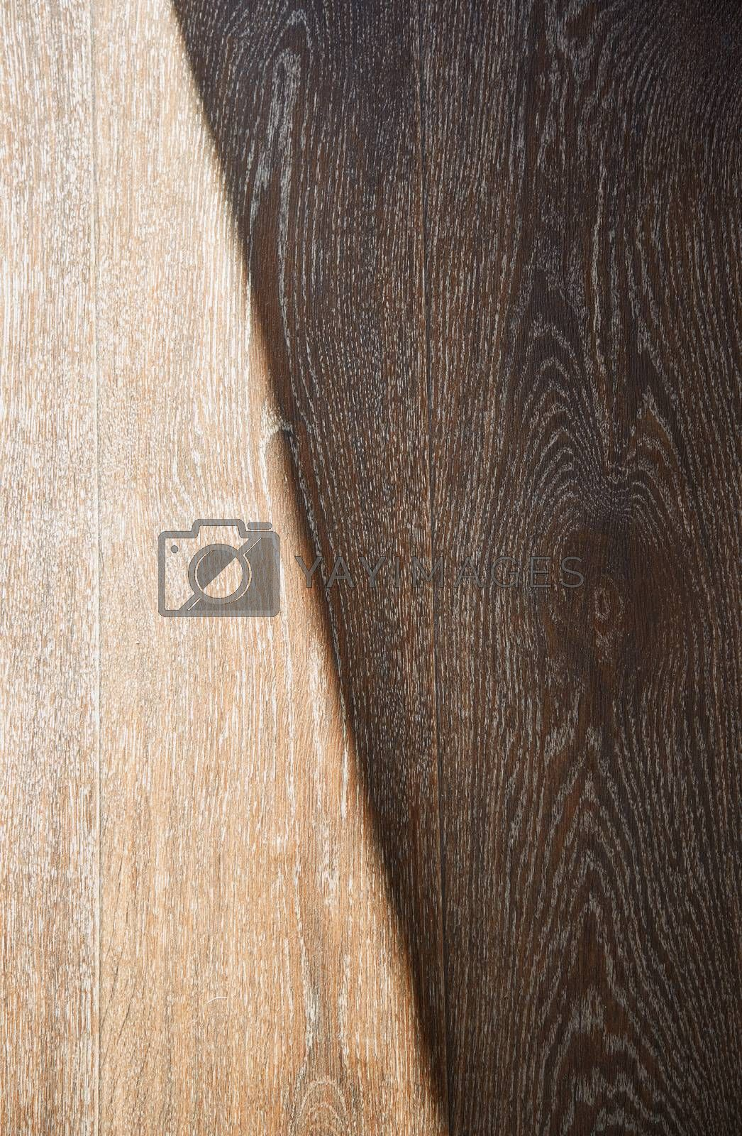 Wooden texture with sunlight and shade