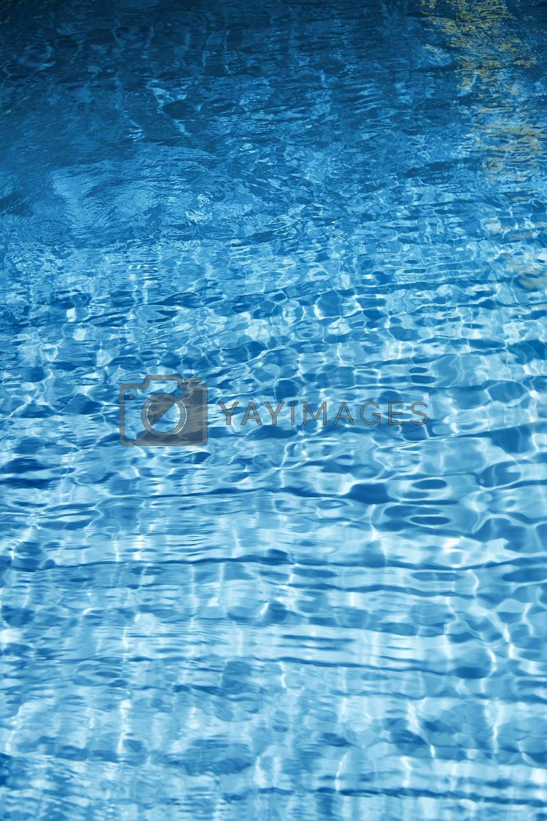 Texture of blue water. Vertical photo