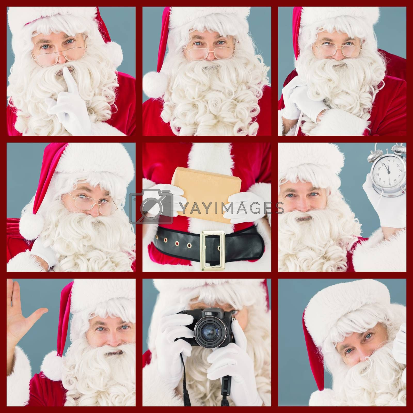 Composite image of portrait of santa keeping a secret