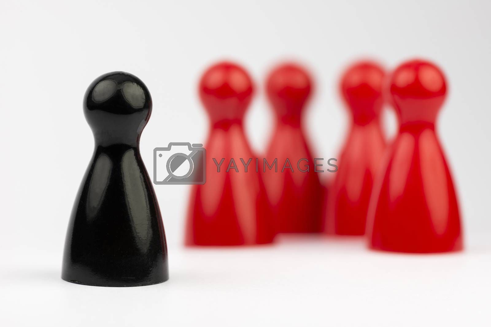 Conceptual game pawns  by Tofotografie