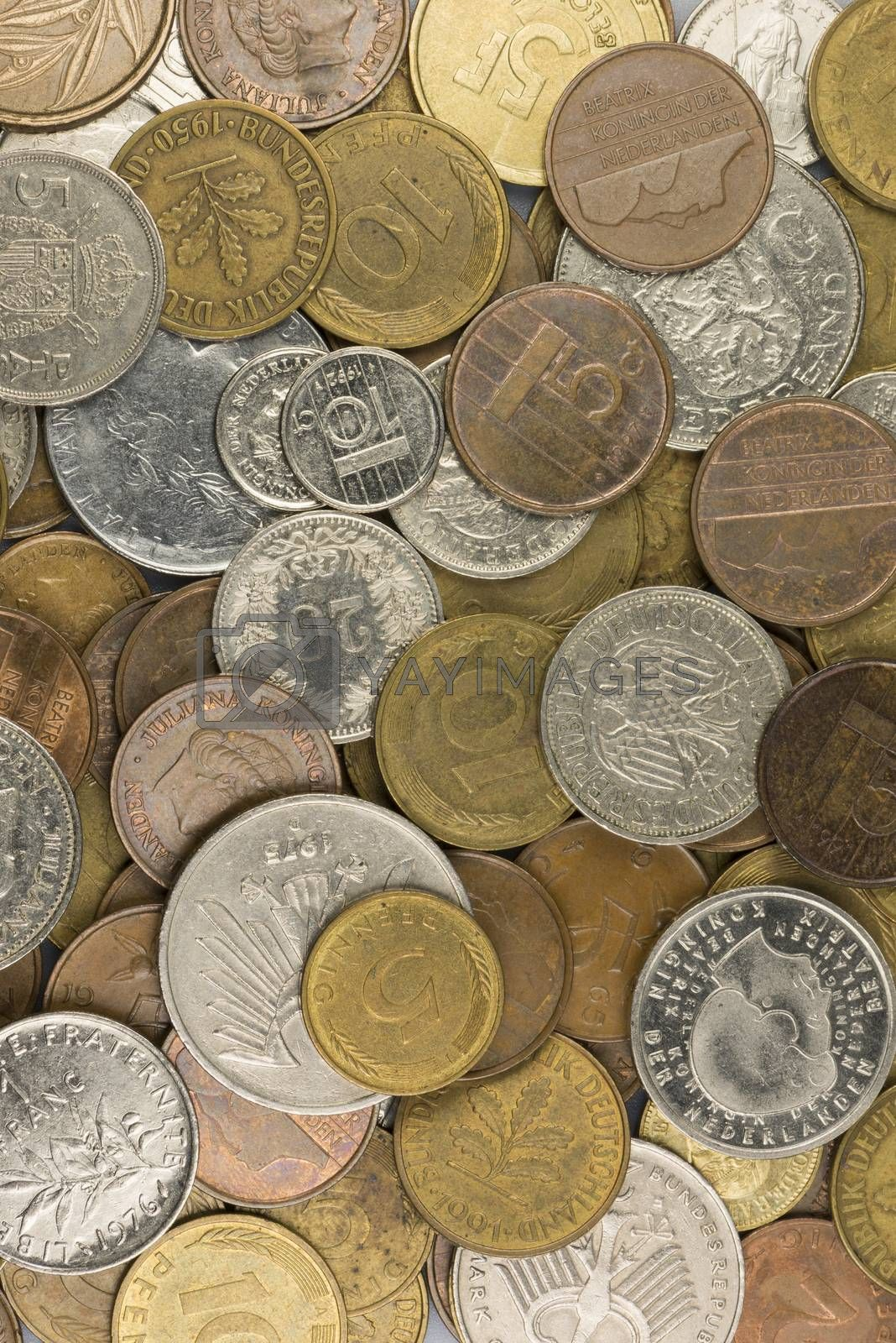 old European coins before the introduction of the Euro