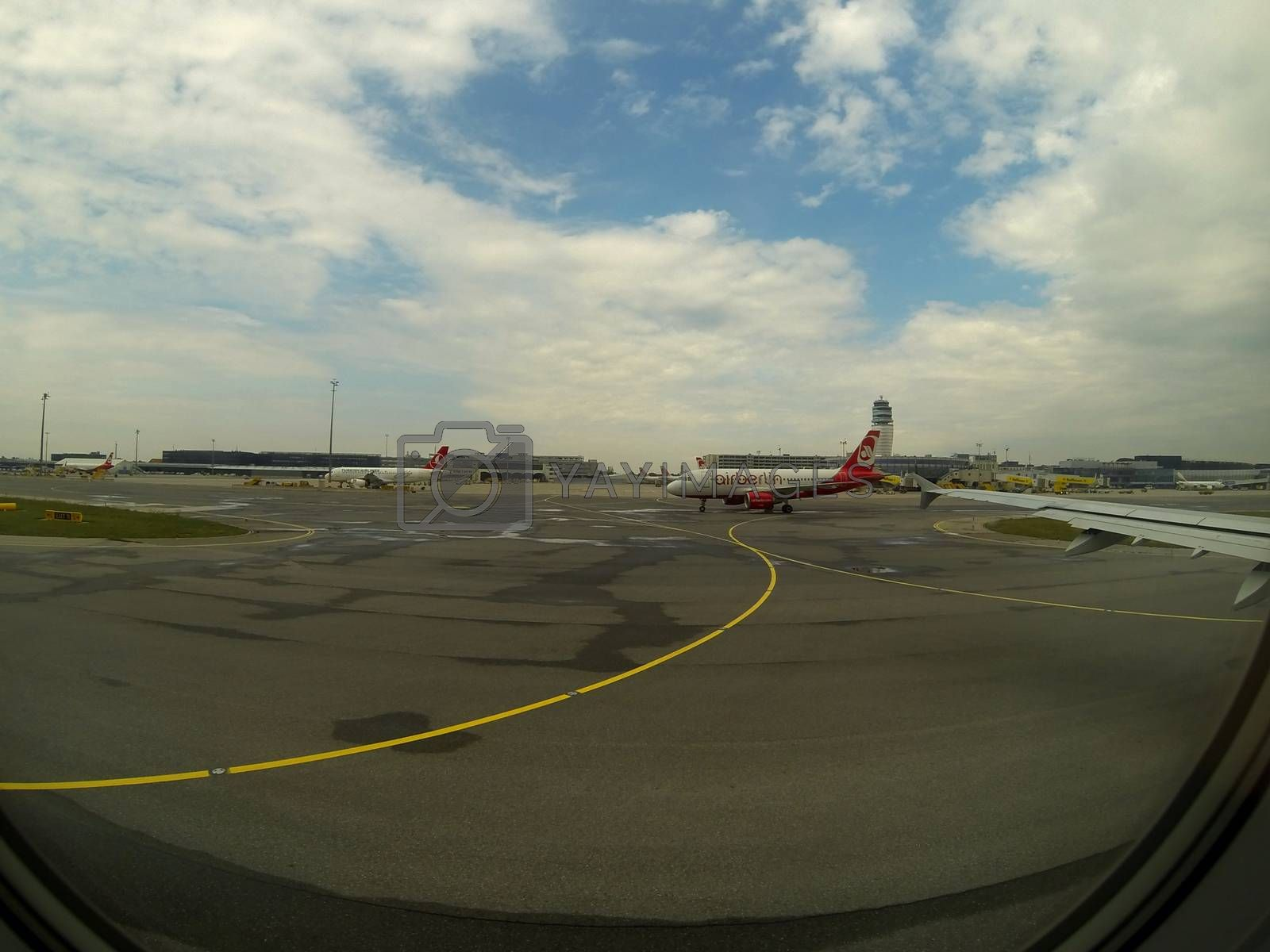 airport with aircraft of Air Berlin