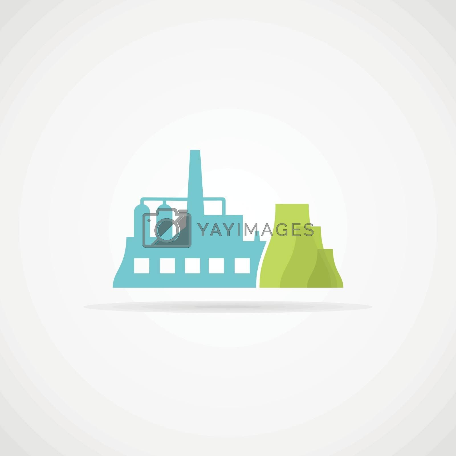 The industrial factory. Vector illustration