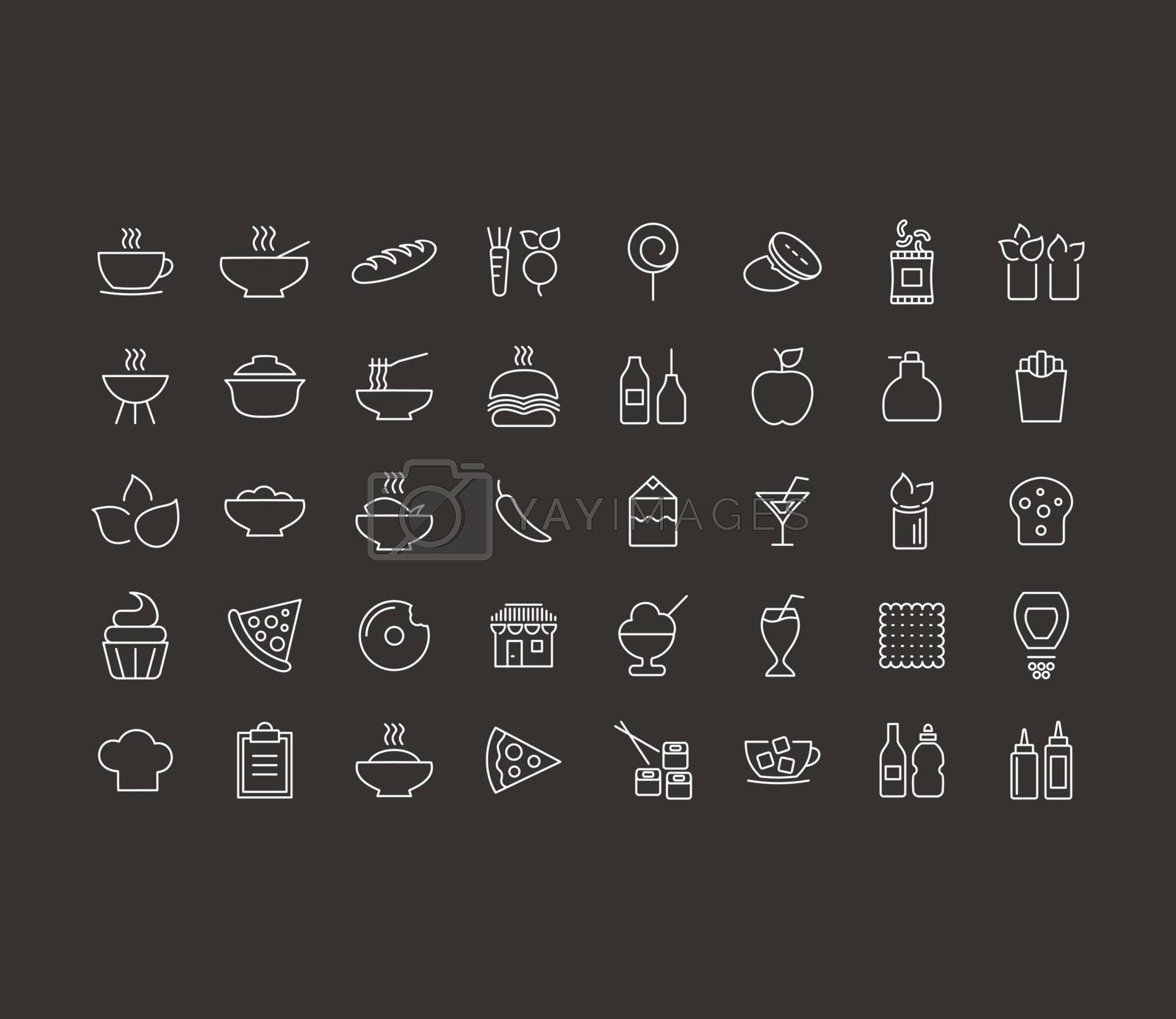 Outline icon on the topic of food. Vector illustration