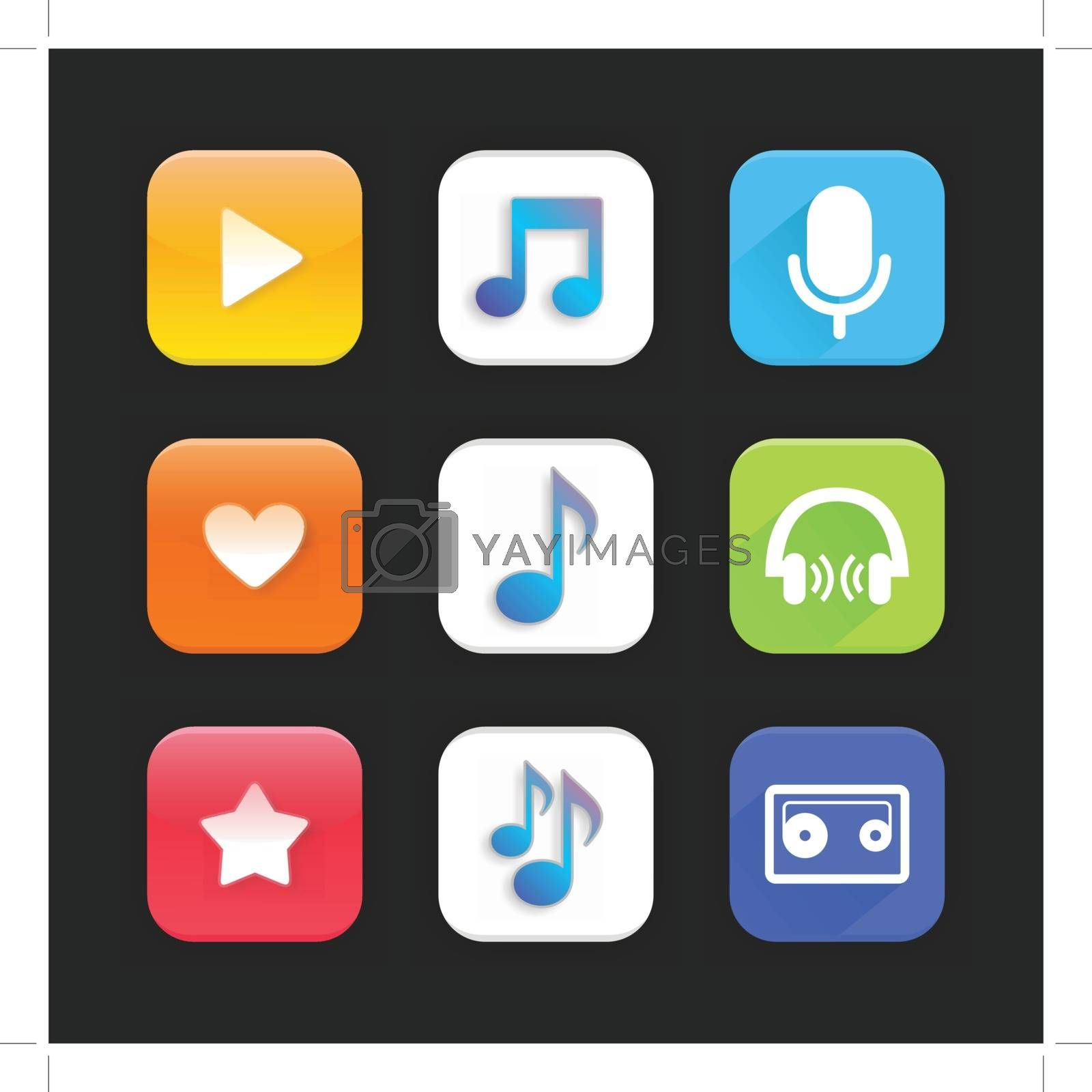 Royalty free image of Music app by aleksander1