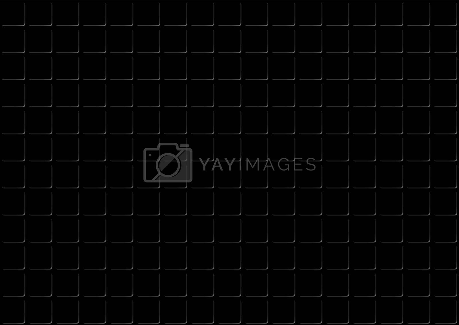 Dark Metal Texture Background - Wire Mesh Pattern, Vector
