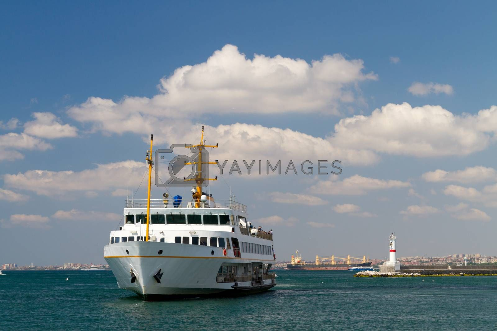 Royalty free image of A ferry from Bosphorus, Istanbul by EvrenKalinbacak