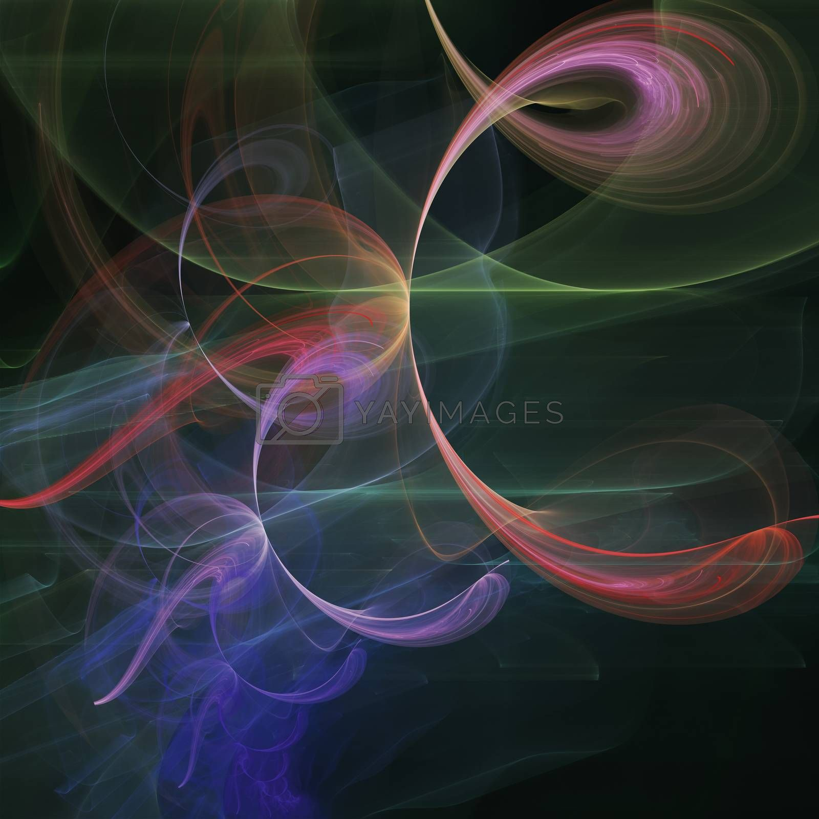 Abstract art, colourful futuristic background
