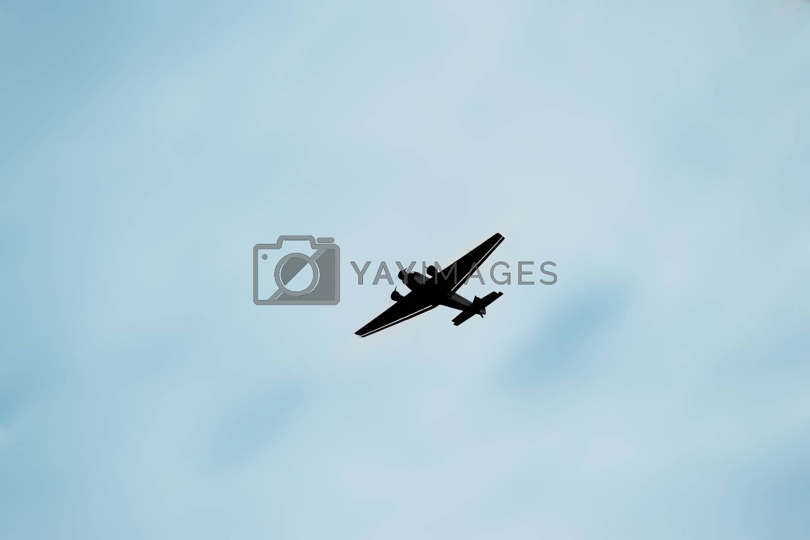 The Junkers Ju 52, a three-engine airplane in front of a blurred background.
