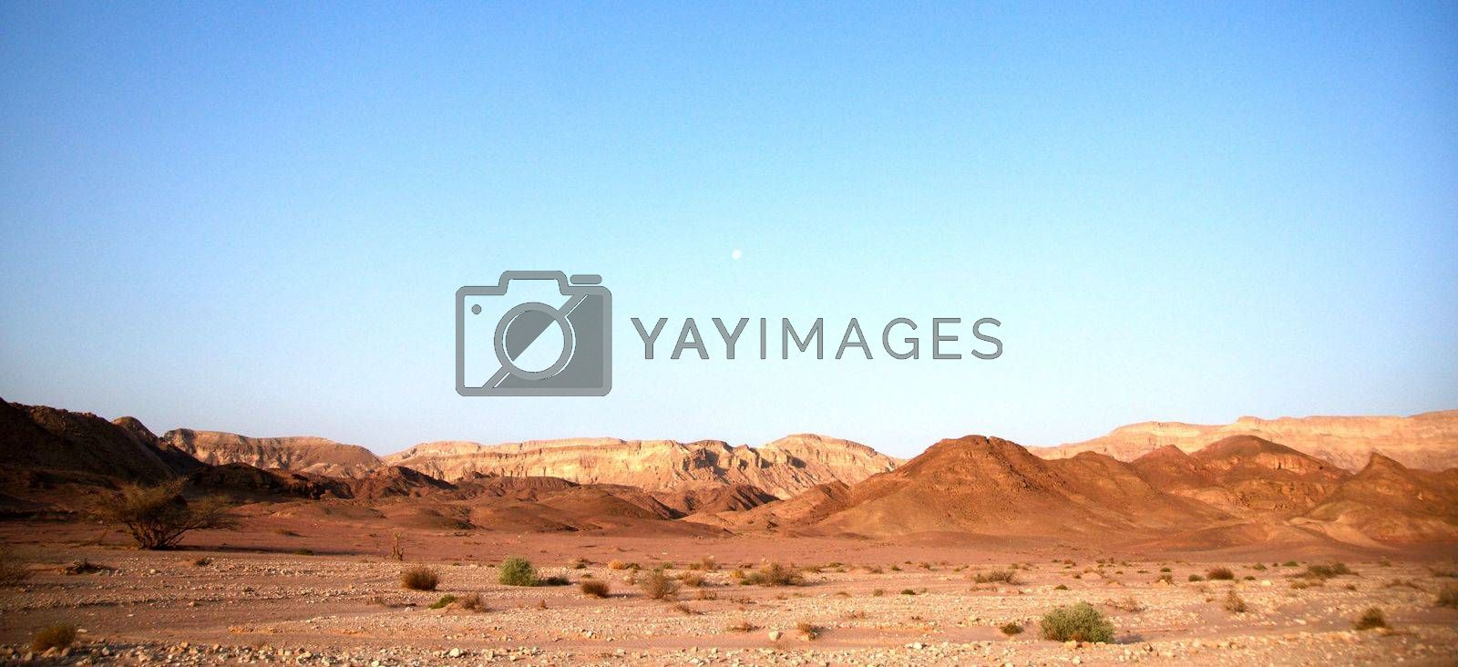 Timna geological park for tourists in Israel