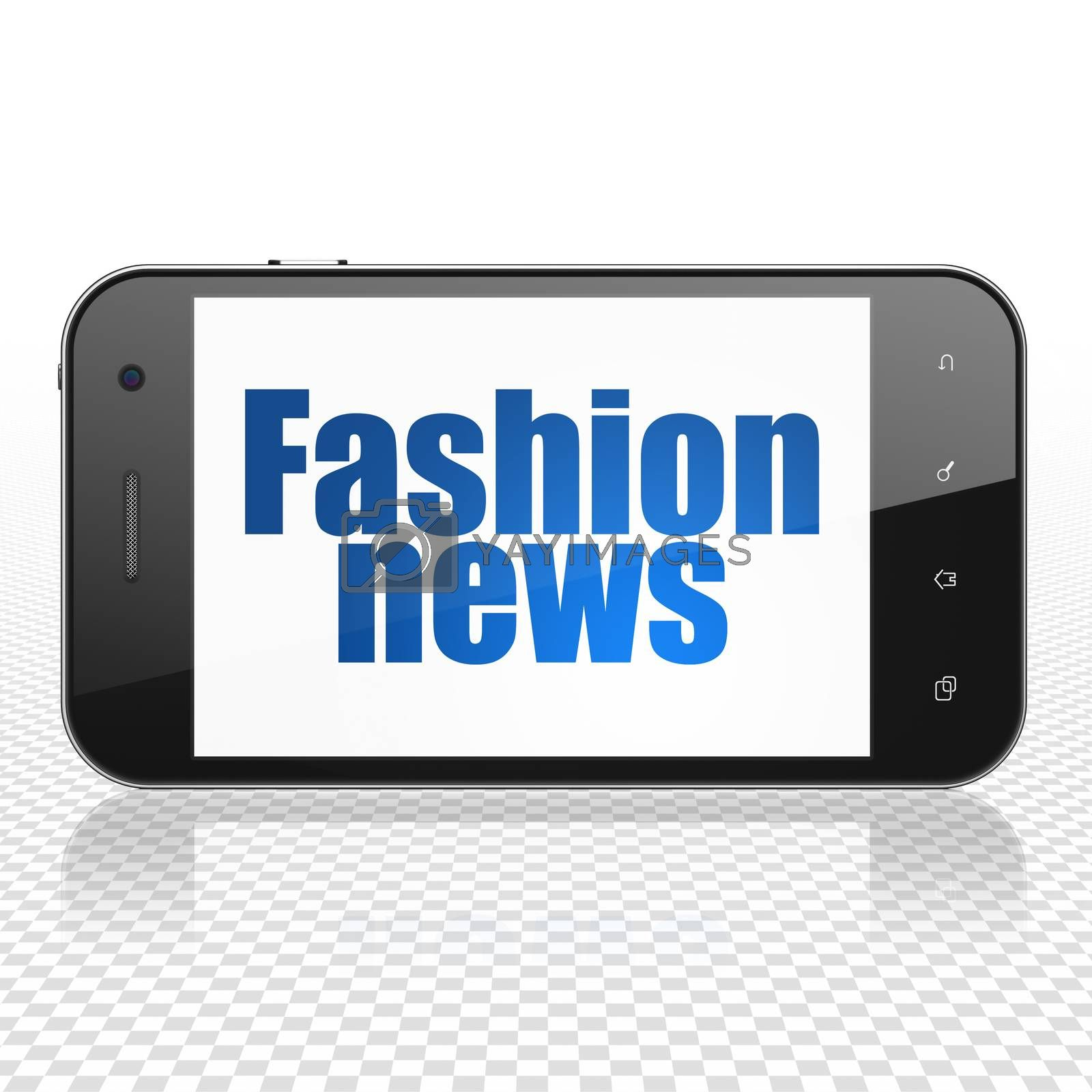News concept: Smartphone with Fashion News on display by maxkabakov