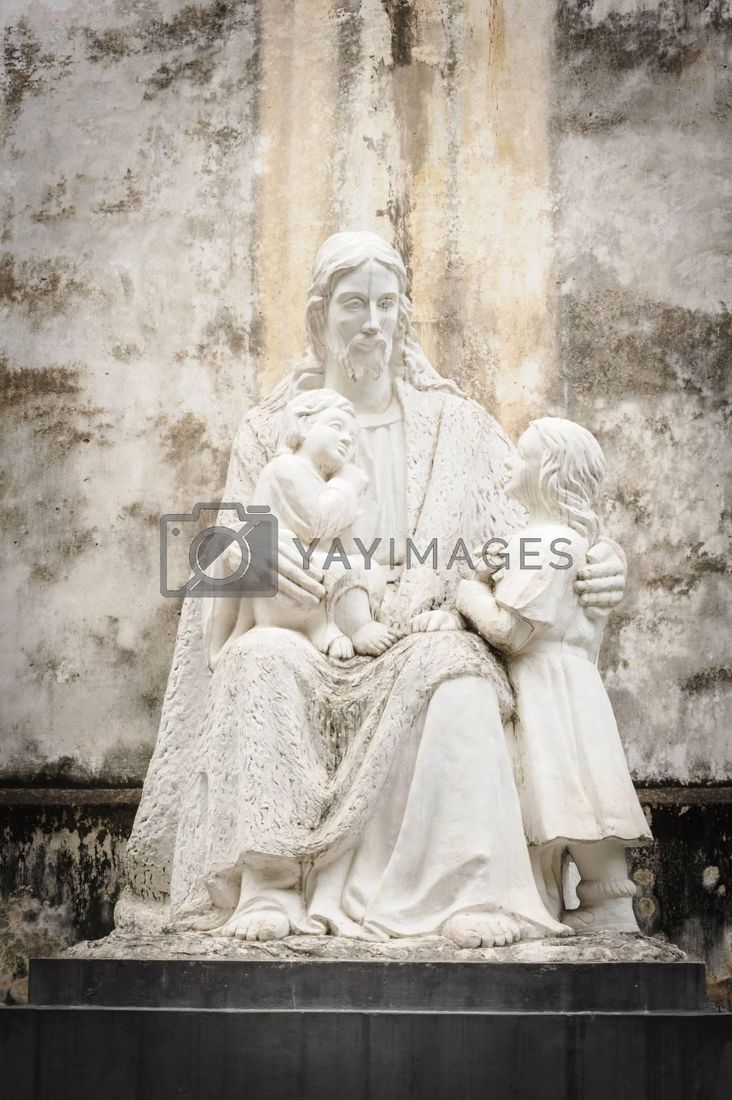 Statuary of Jesus Christ in the St. Joseph's Cathedral in Hoan Kiem Hanoi, Vietnam.