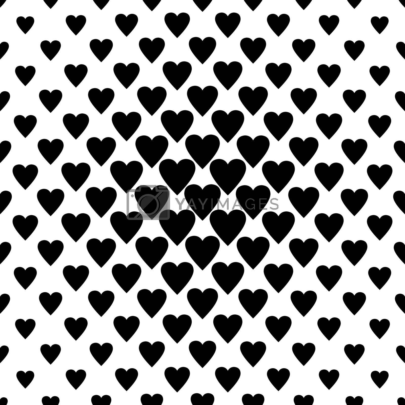 Seamless black heart pattern