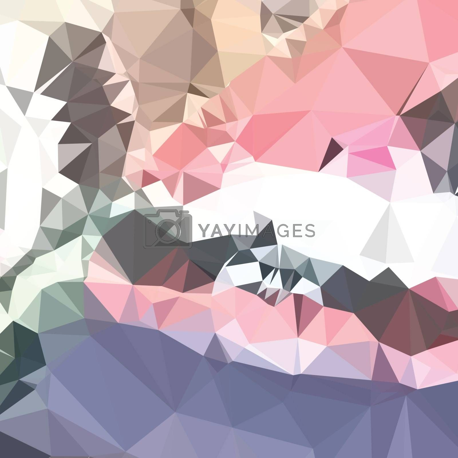 Low polygon style illustration of a lavender pink abstract geometric background.
