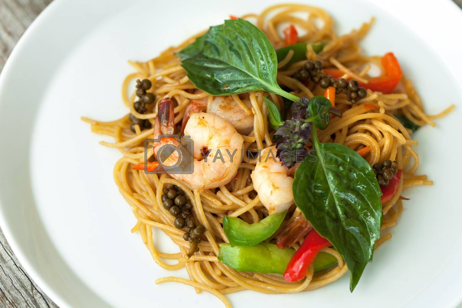 Thai Shrimp with Noodles Meal by graficallyminded