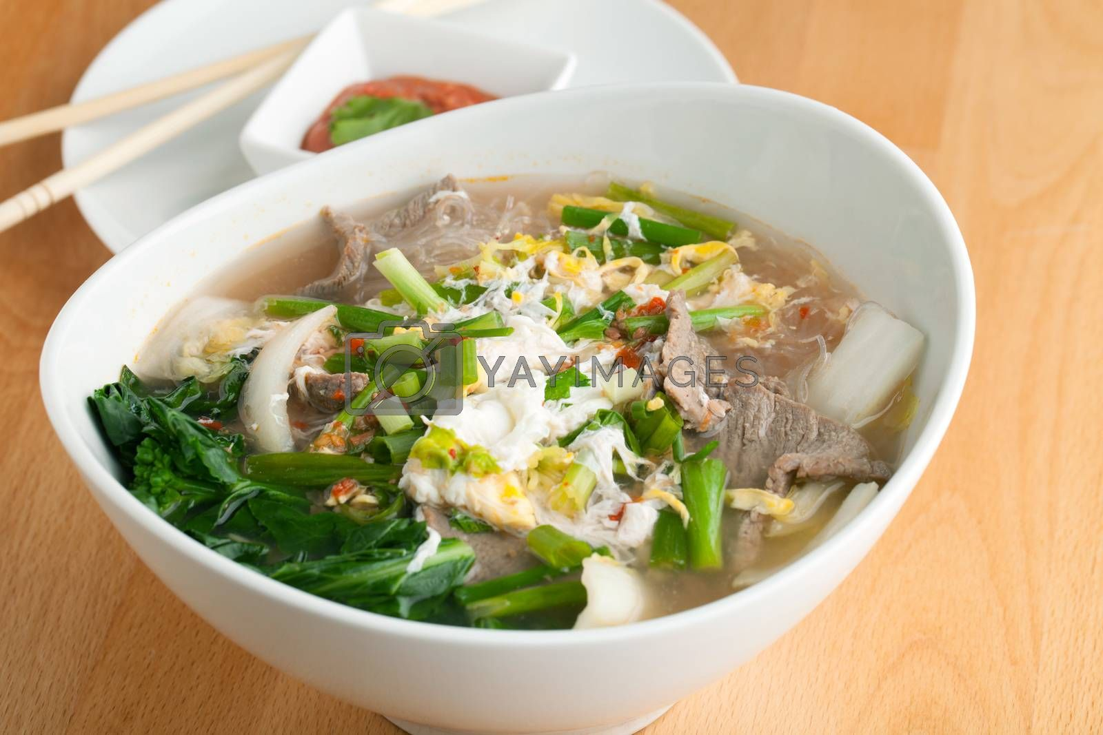 Thai Soup with Beef by graficallyminded