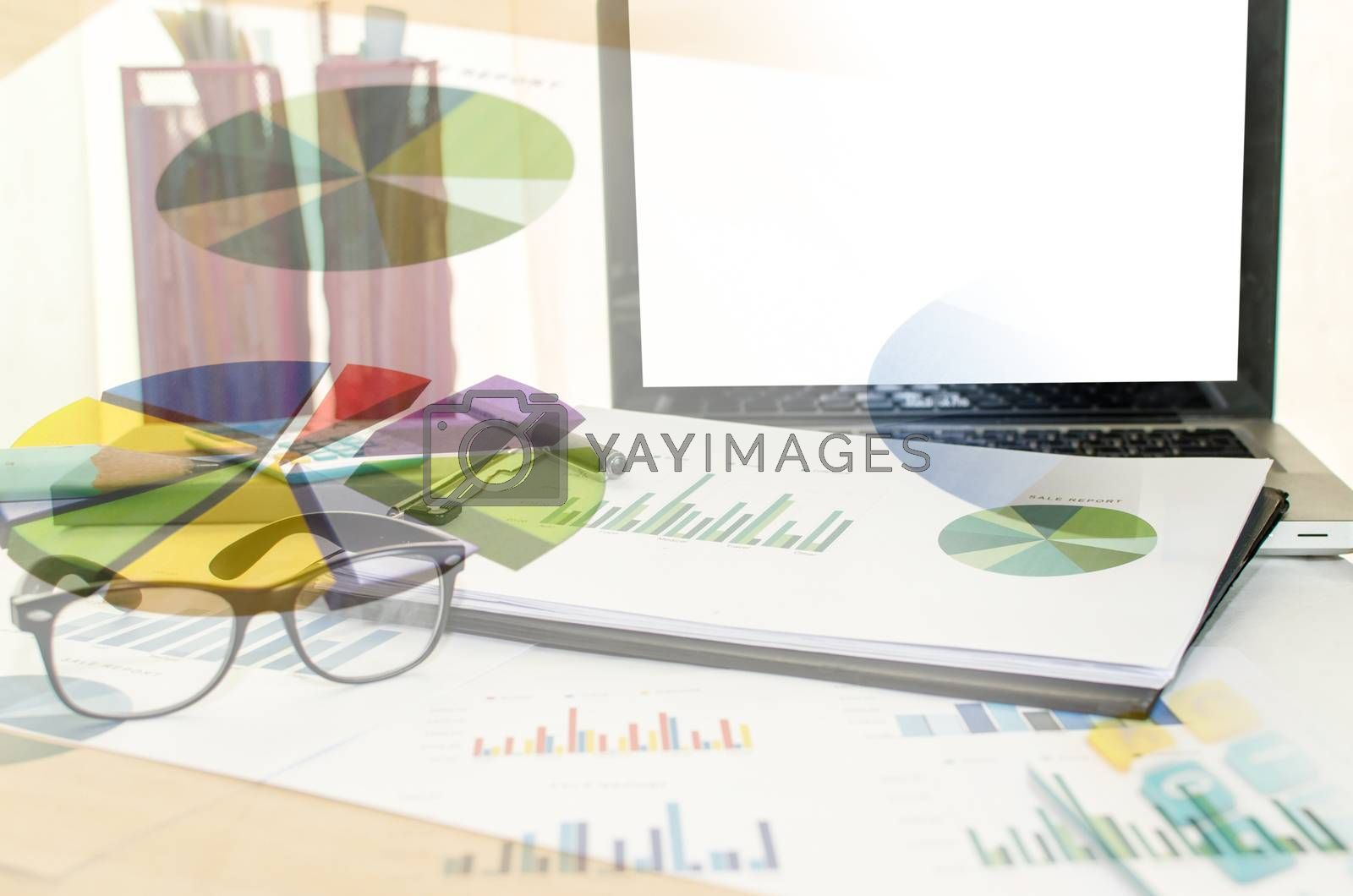 business analysis pen and report paper, business conceptual
