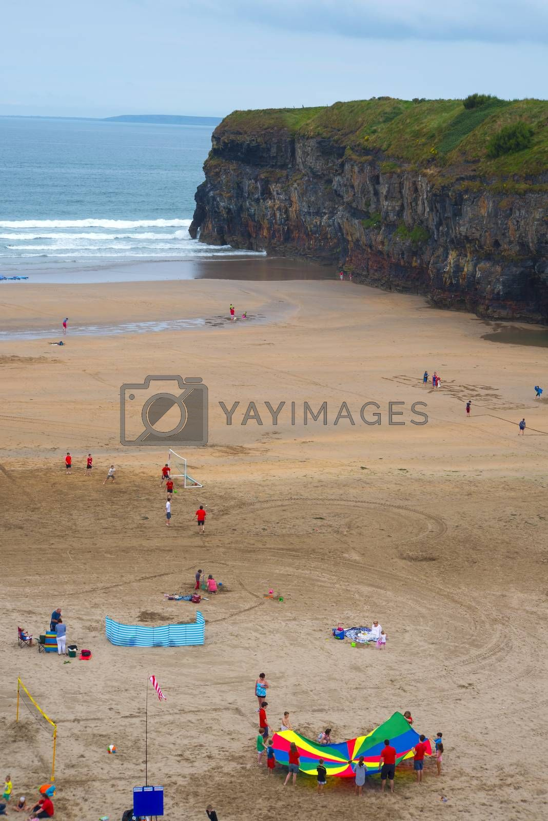 summer holidays on ballybunion beach on the wild atlantic way in county kerry ireland