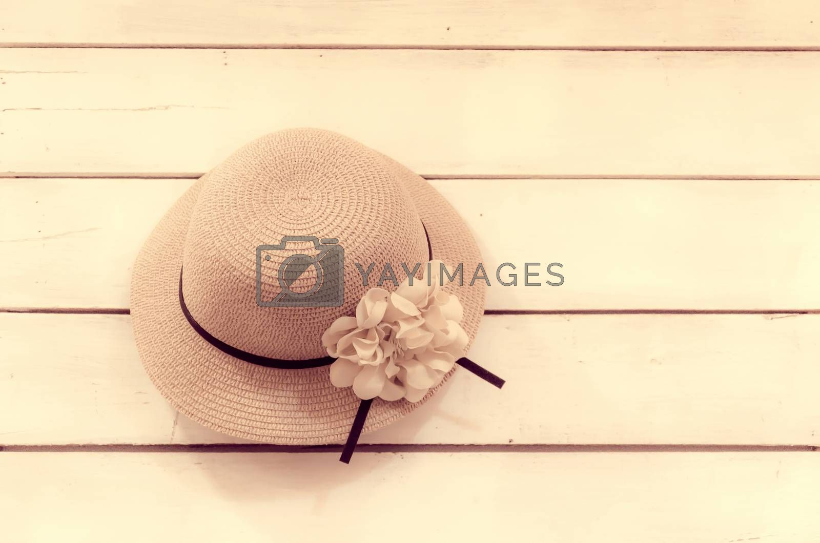 hat vintage on a wooden wall