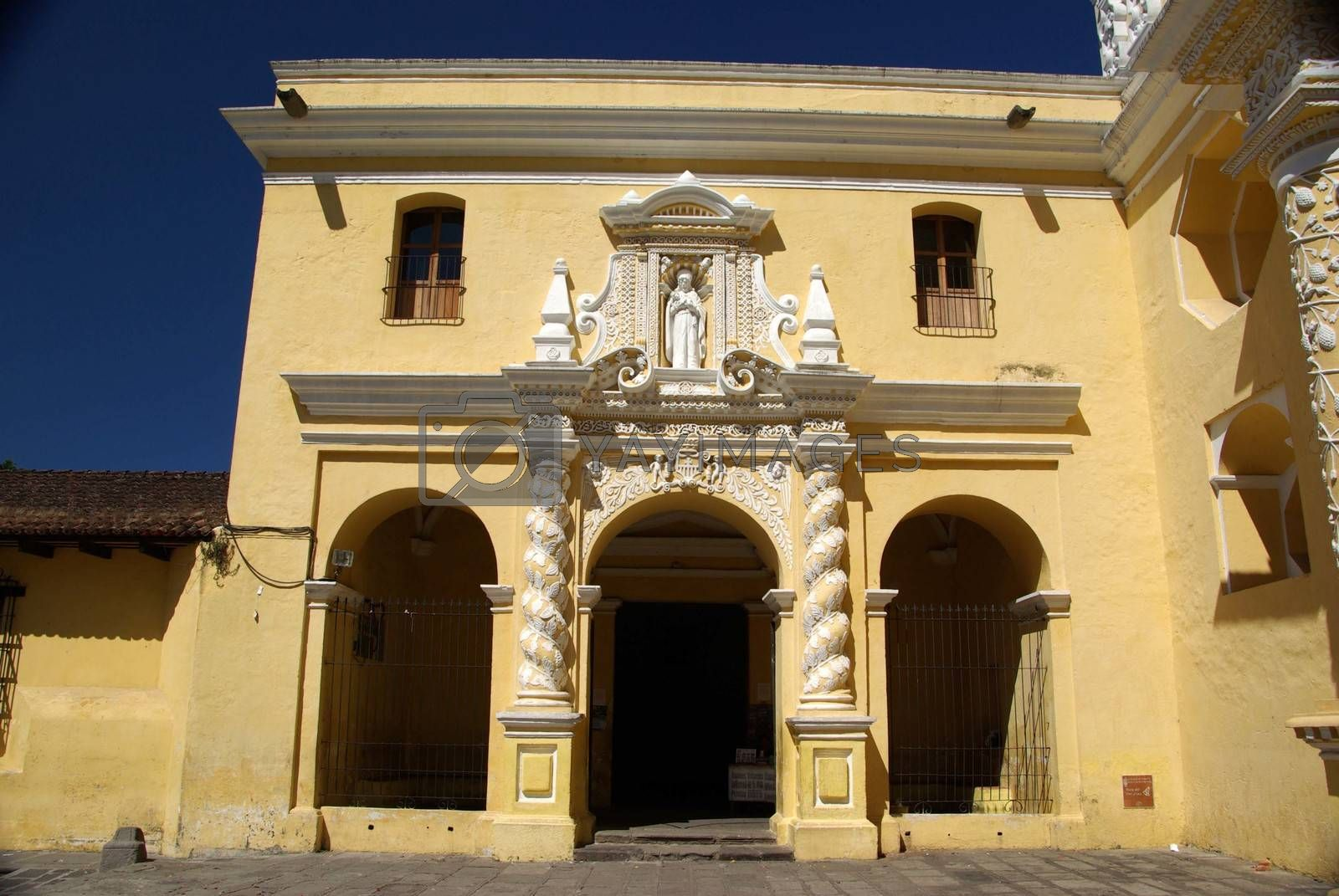 Catholic church in the ancient colonial city of Antigua in Guatemala, Central America