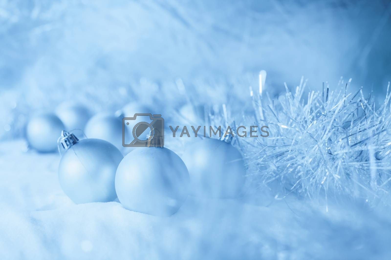 Blue Christmas balls by anelina