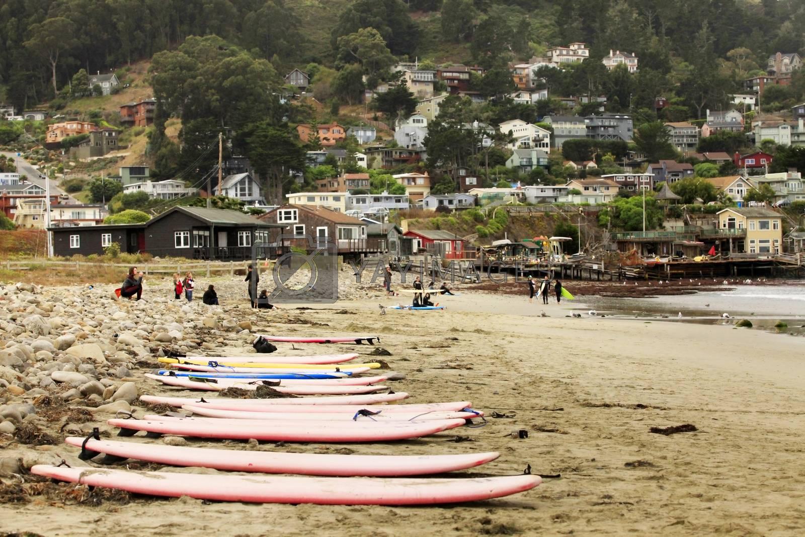 San Francisco, CA, USA - September 24, 2011: Pacifica State Beach in San Francisco