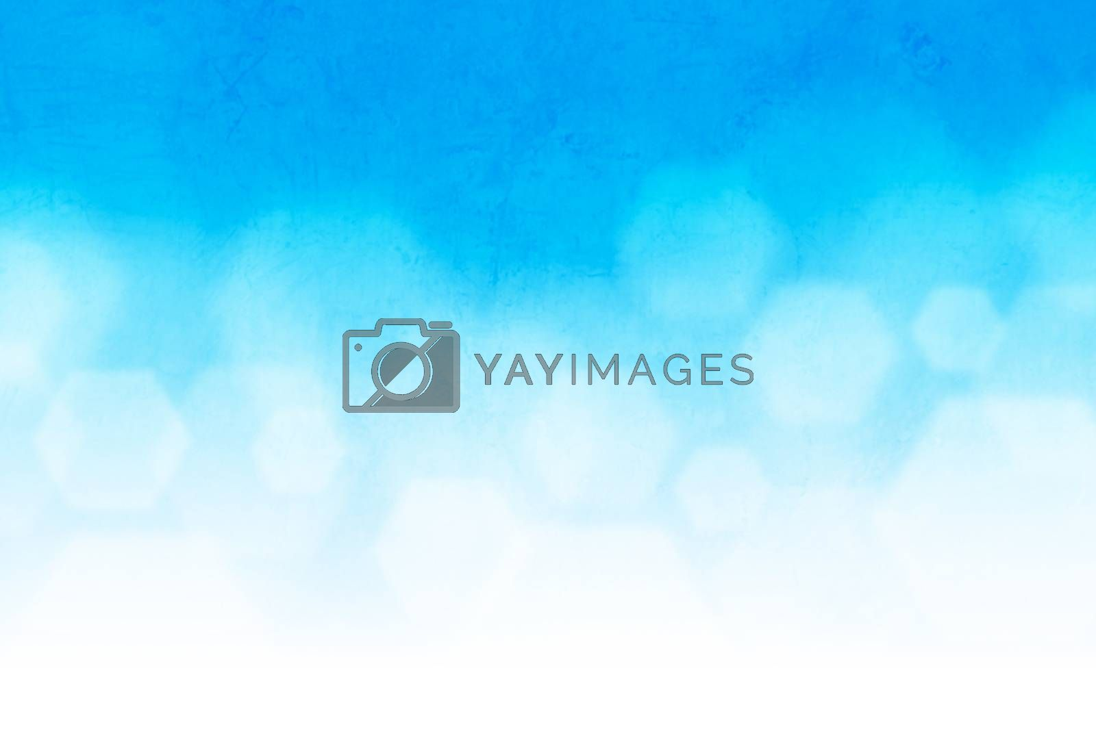 Bright glowing blue abstract background in the form of bokeh with grunge texture