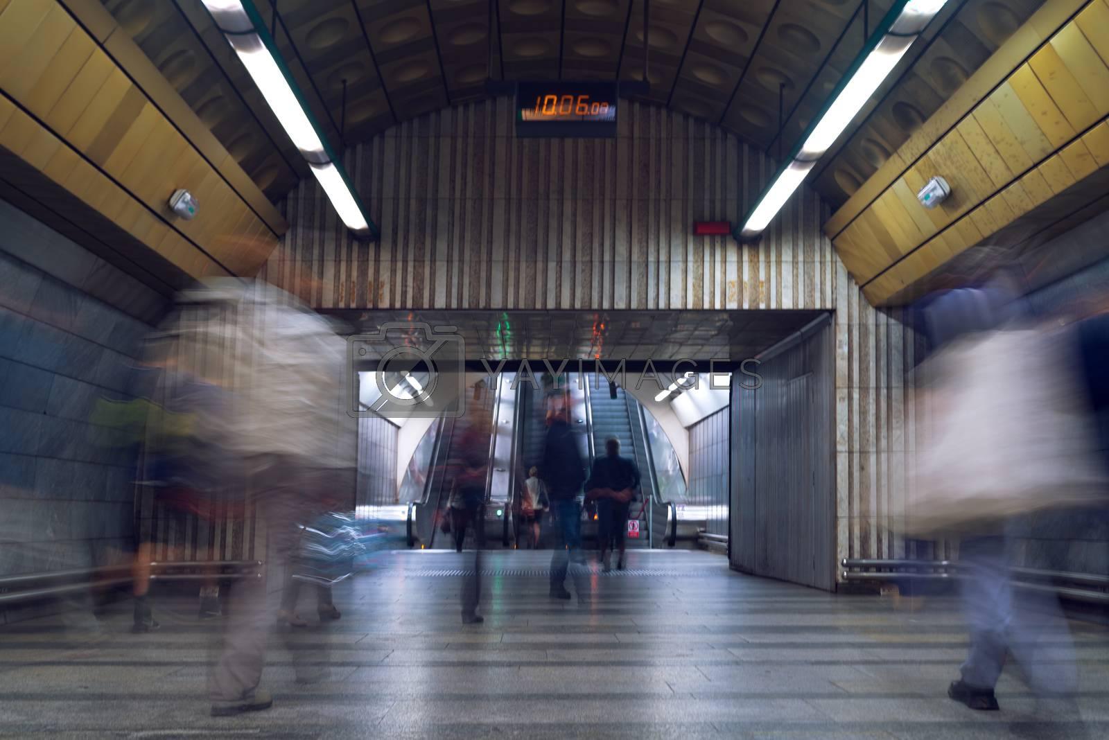 People at subway station by stevanovicigor