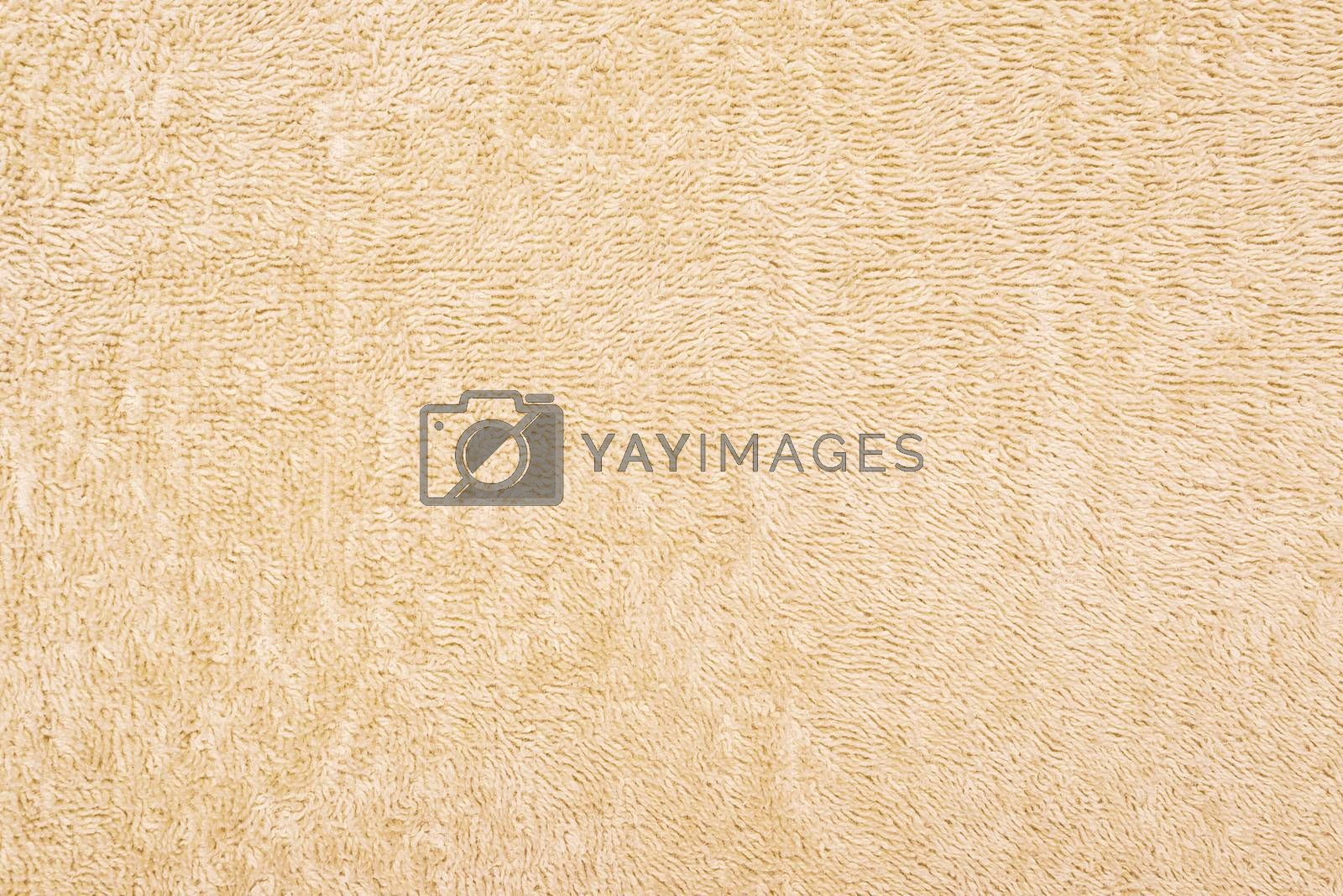 Beige Towel close up pattern texture as background
