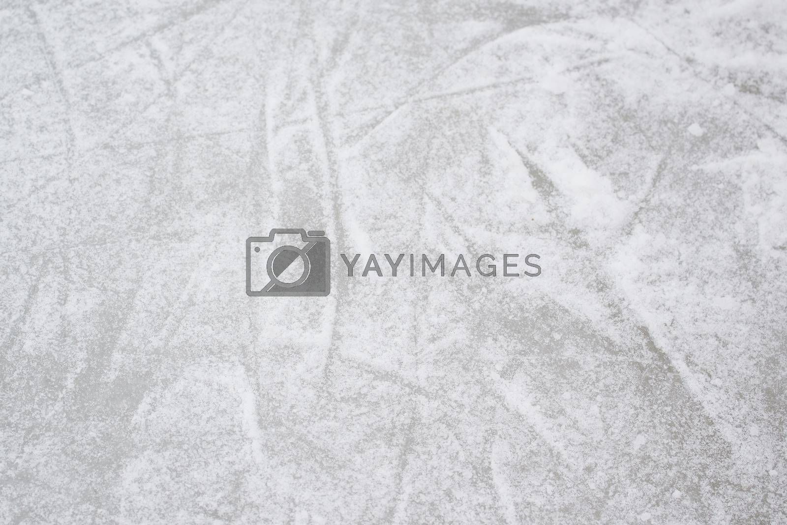 Skating Ice Texture Pattern as Winter Season Background.