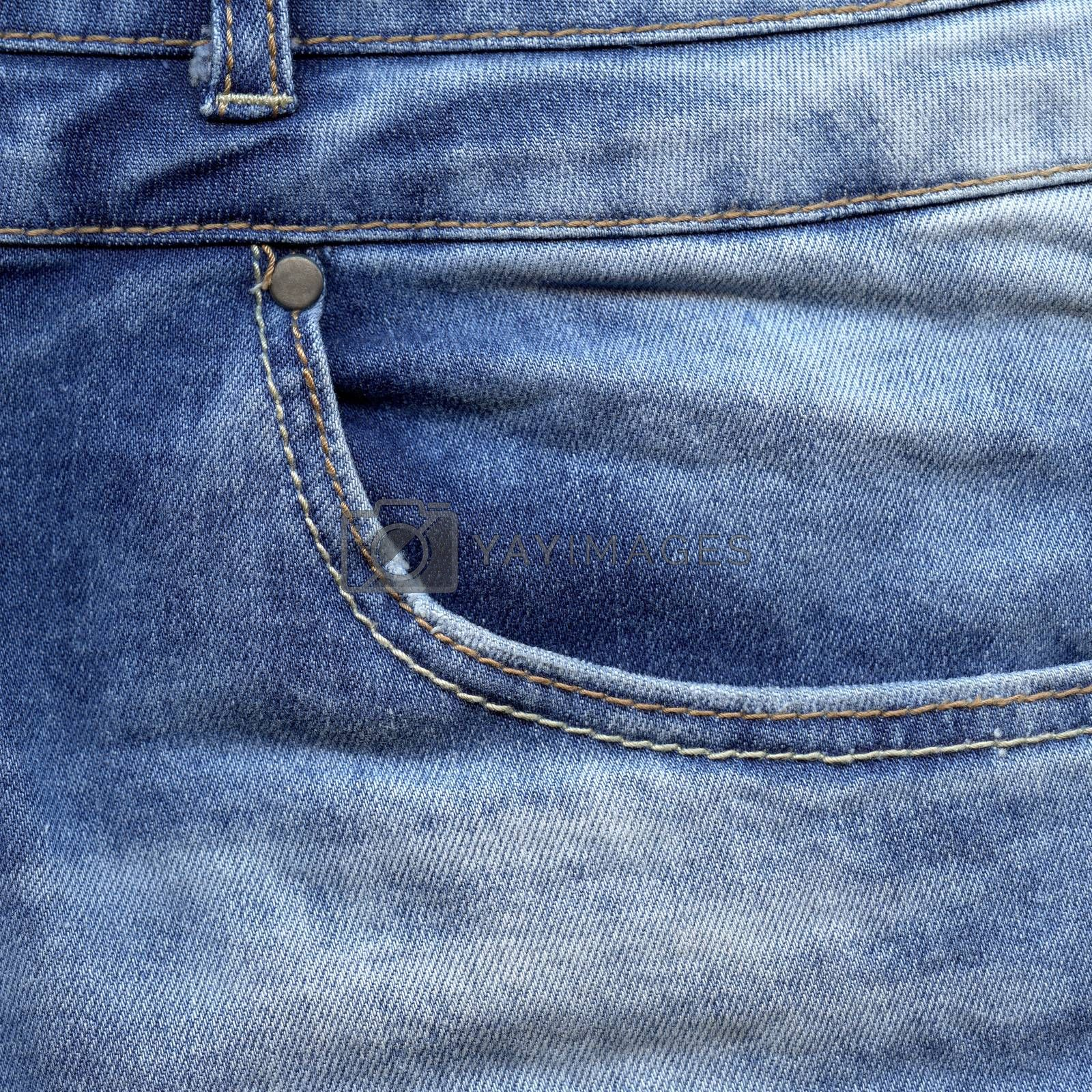 Jeans pocket. Blue denim texture. Vintage background