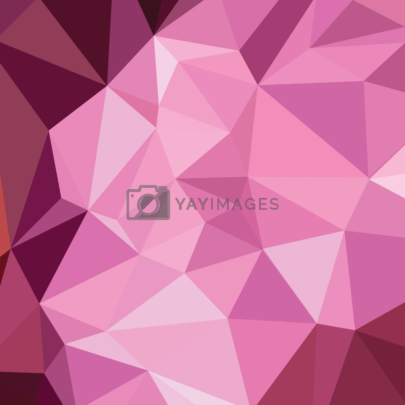 Low polygon style illustration of fandango purple abstract geometric background.