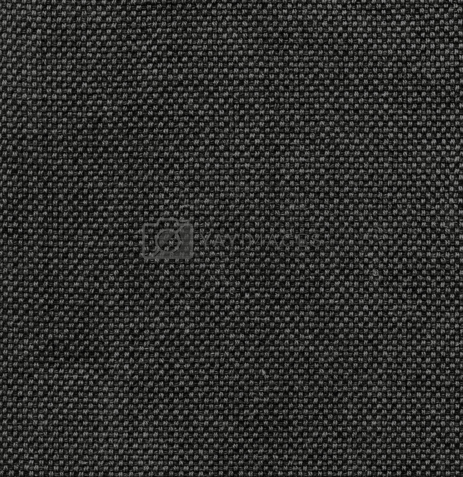 Canvas textile texture.  Dark rough surface background