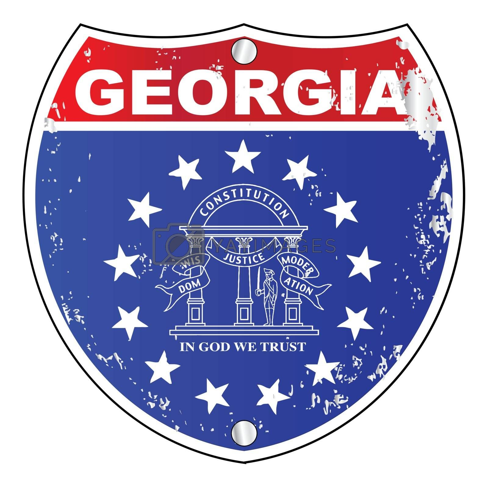 Georgia Interstate Sign by HomeSteadDigital