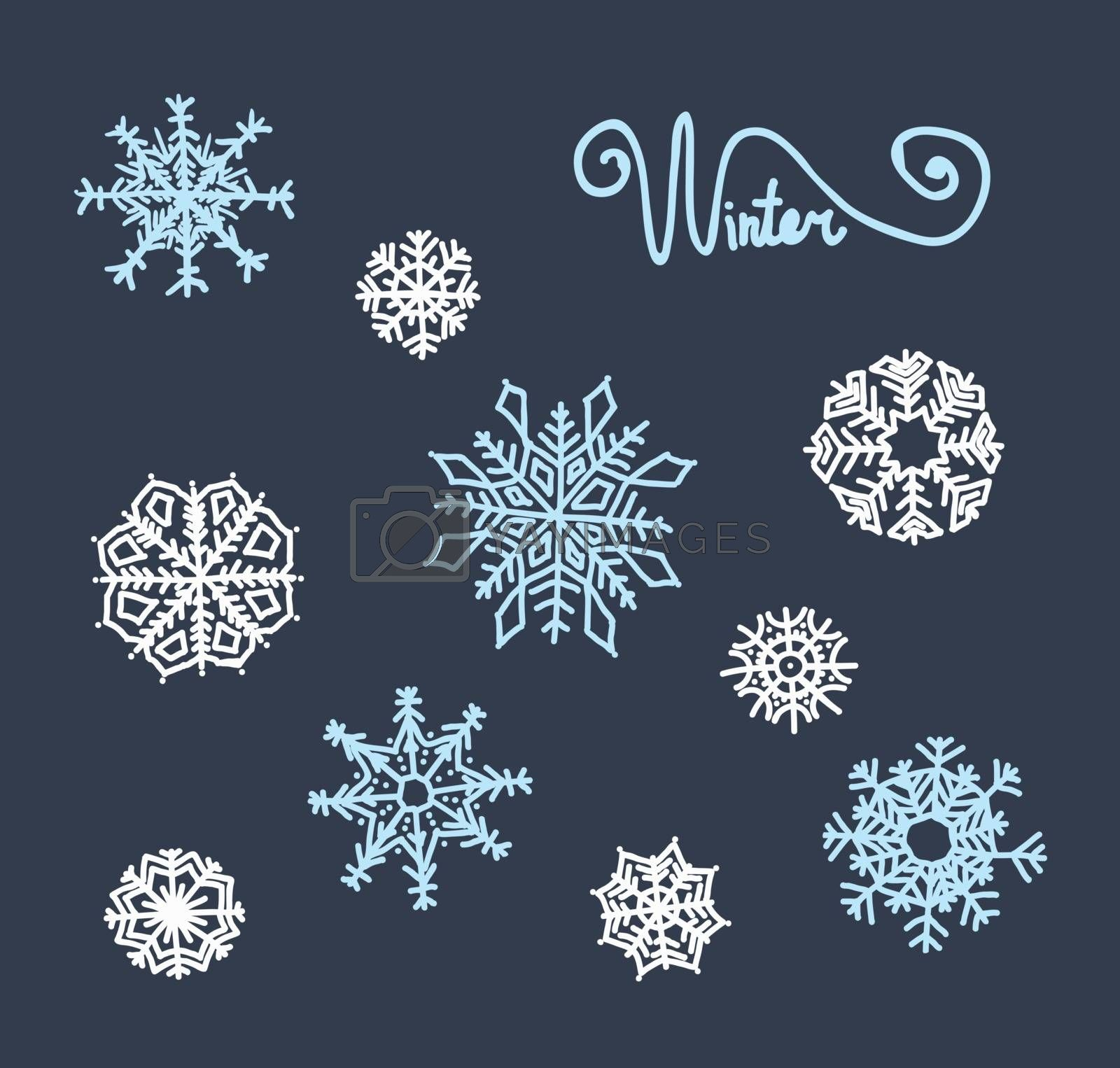 snowflakes set  by OlgaBerlet