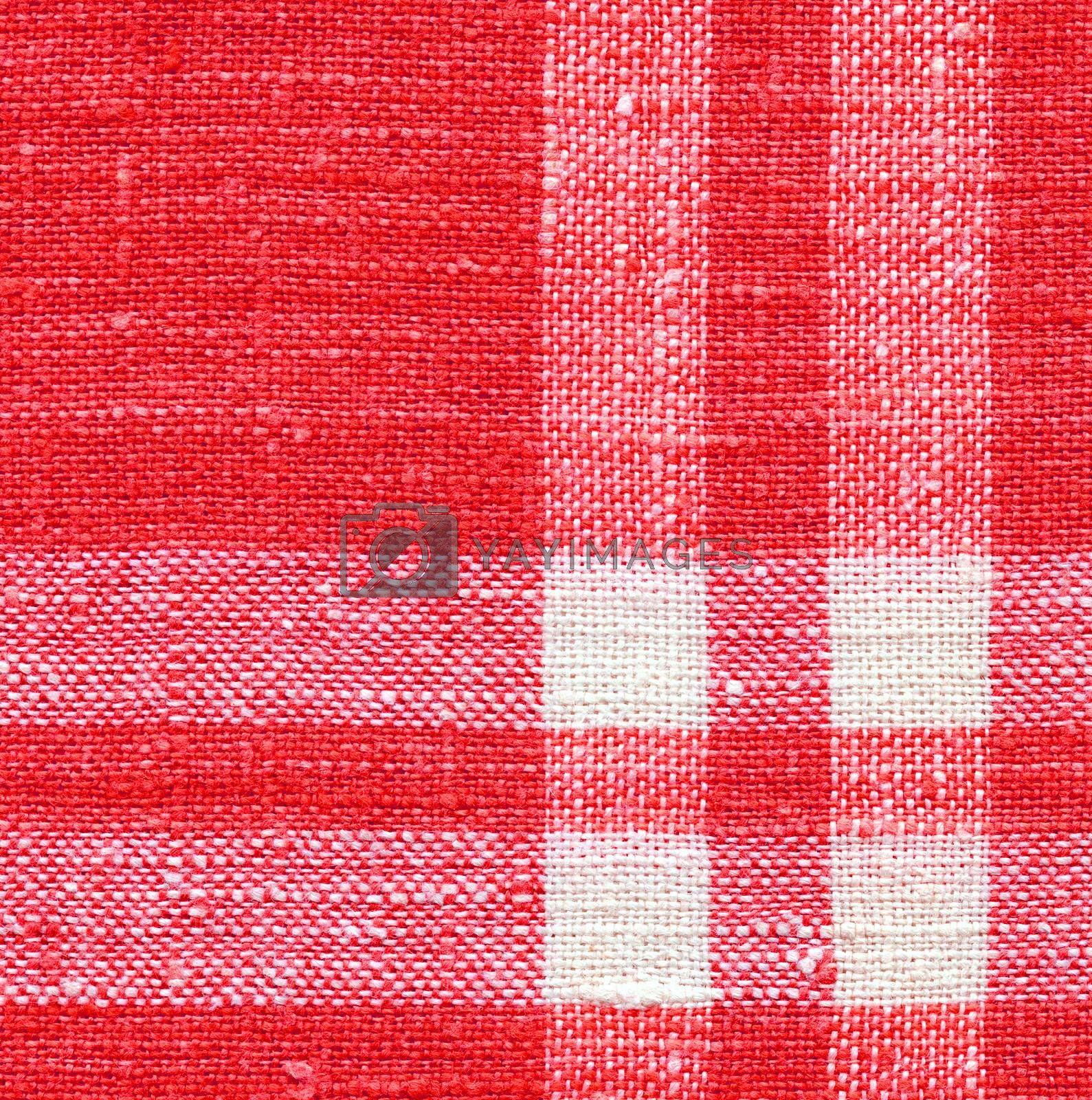 Canvas Texture. Red and White Color