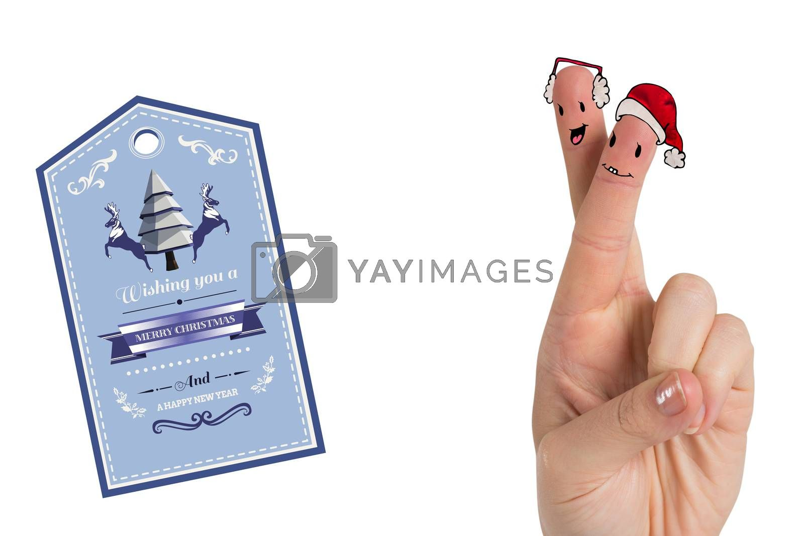 Composite image of christmas fingers by Wavebreakmedia
