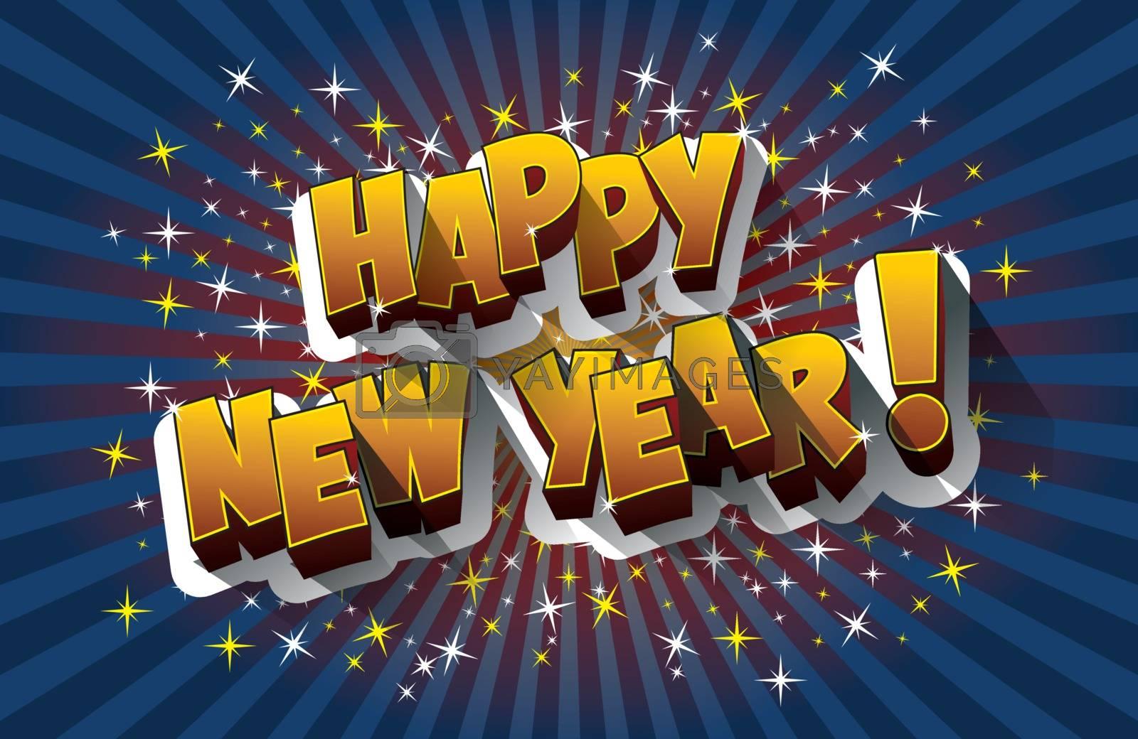Happy new year 2016 celebration greeting card design