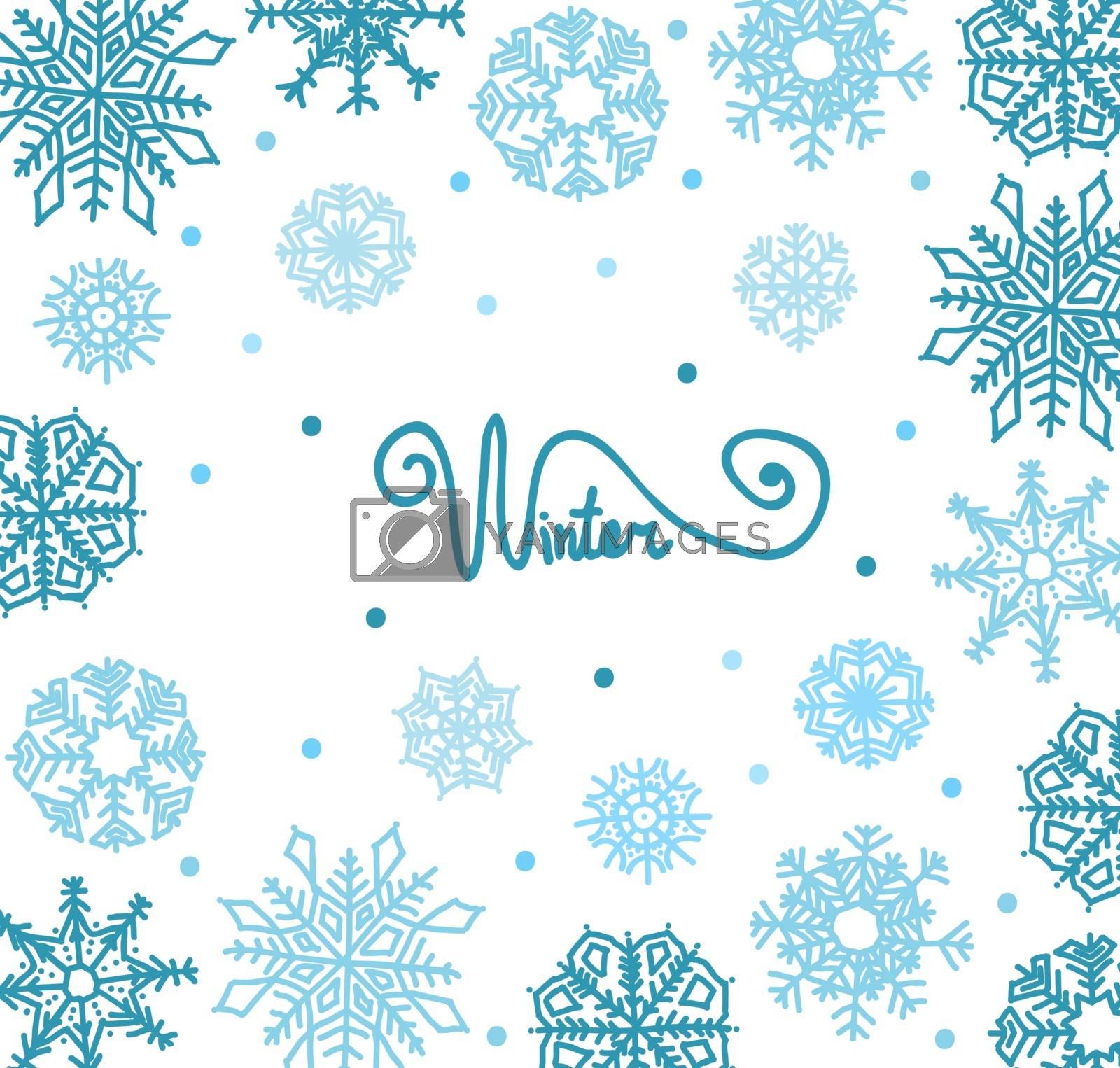 winter background snowflakes by OlgaBerlet