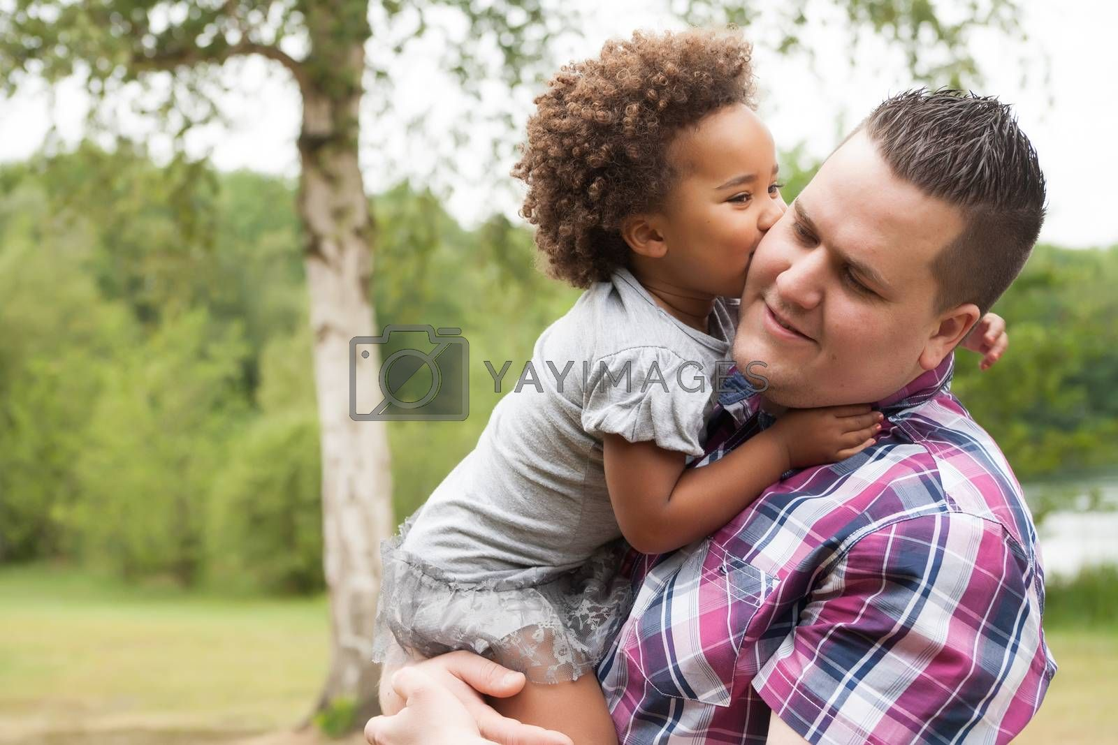 Kiss from the girl to her dad by DNFStyle