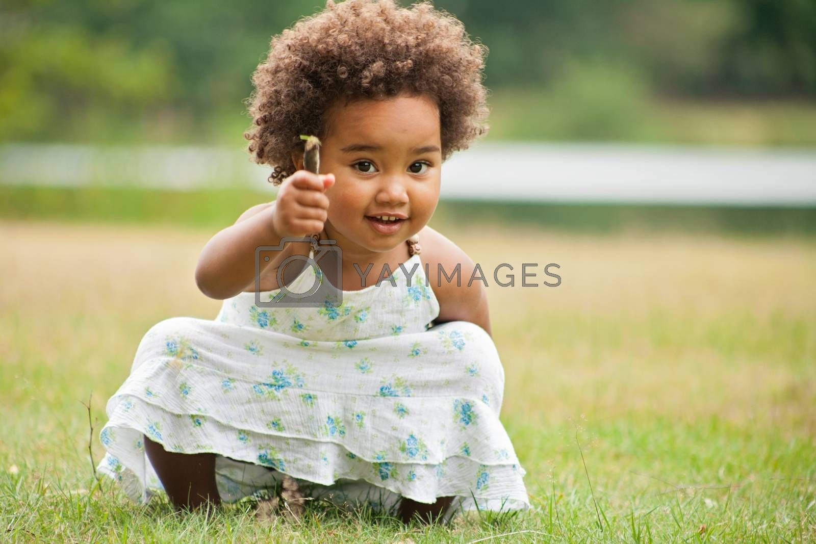 African girl with a flower by DNFStyle