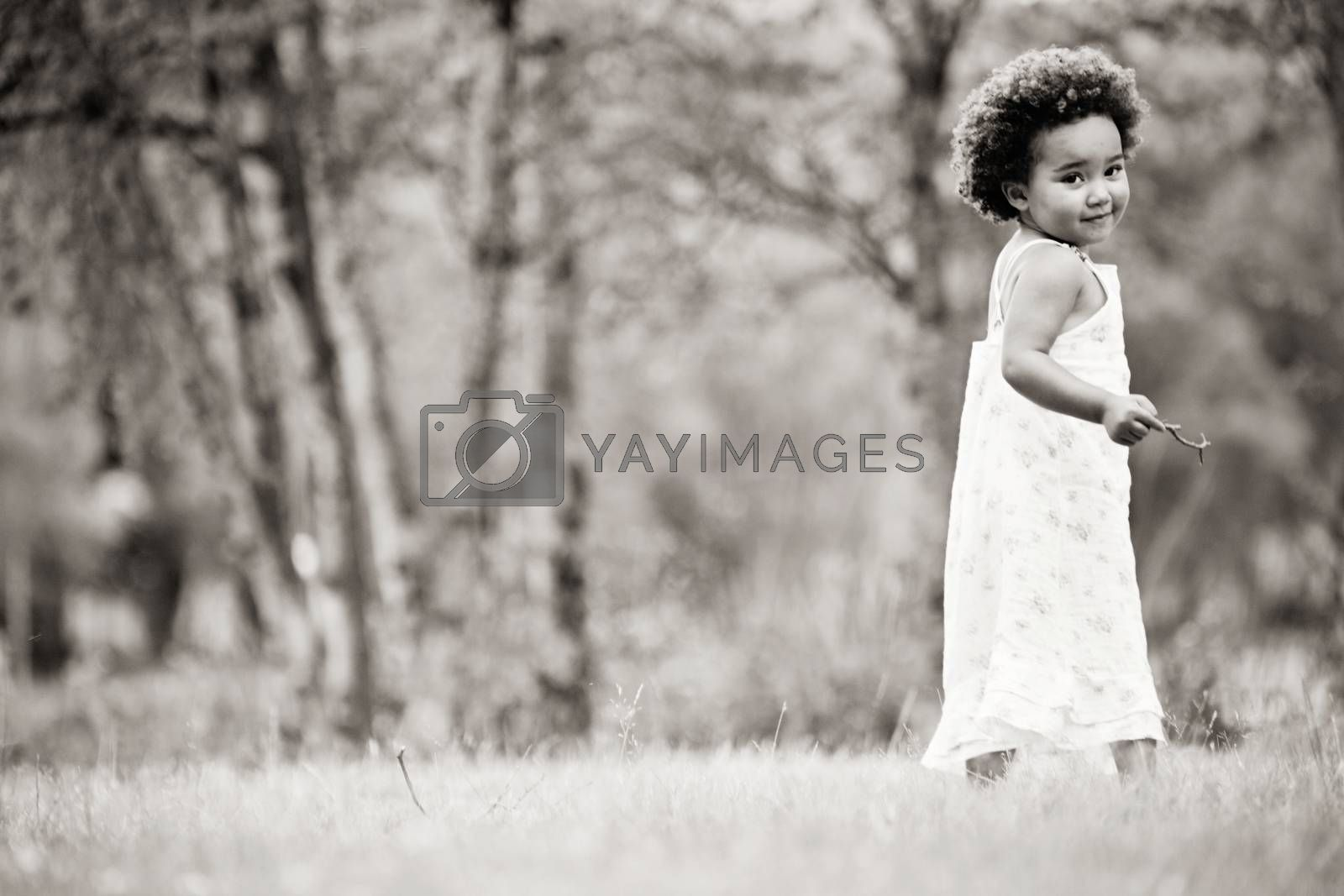 African girl in black and white by DNFStyle