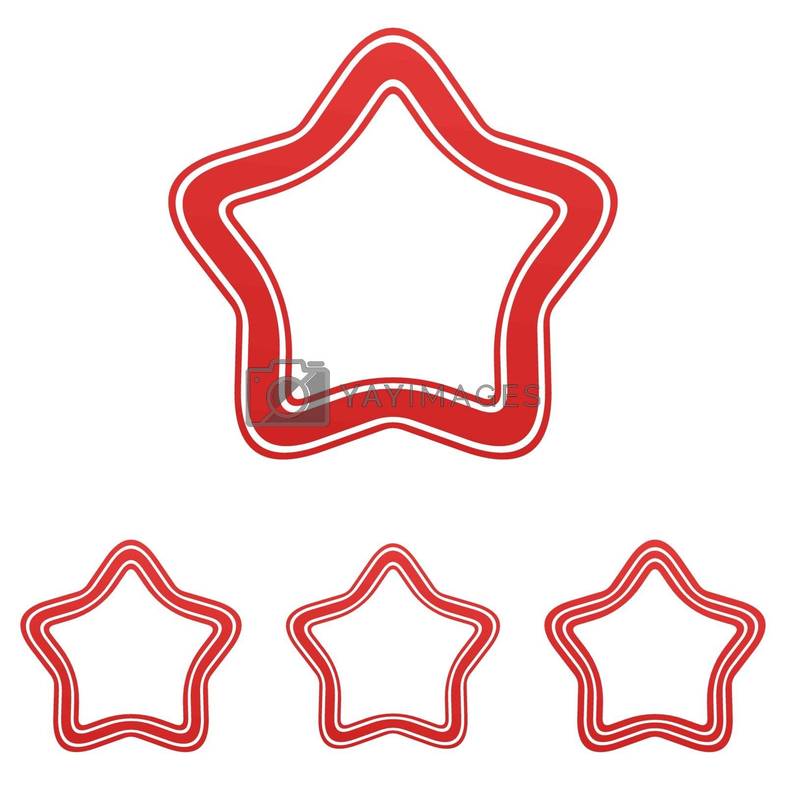 Royalty free image of Red line star logo design set by davidzydd