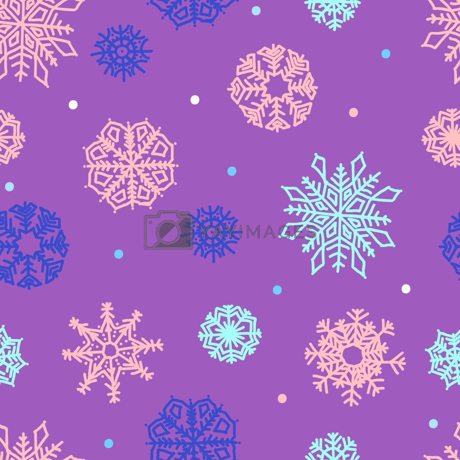 snowflakes seamless ornament by OlgaBerlet