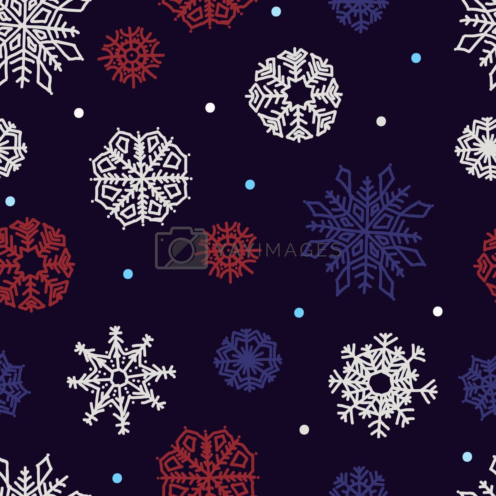 snowflakes seamless ornament by OlgaBerlet
