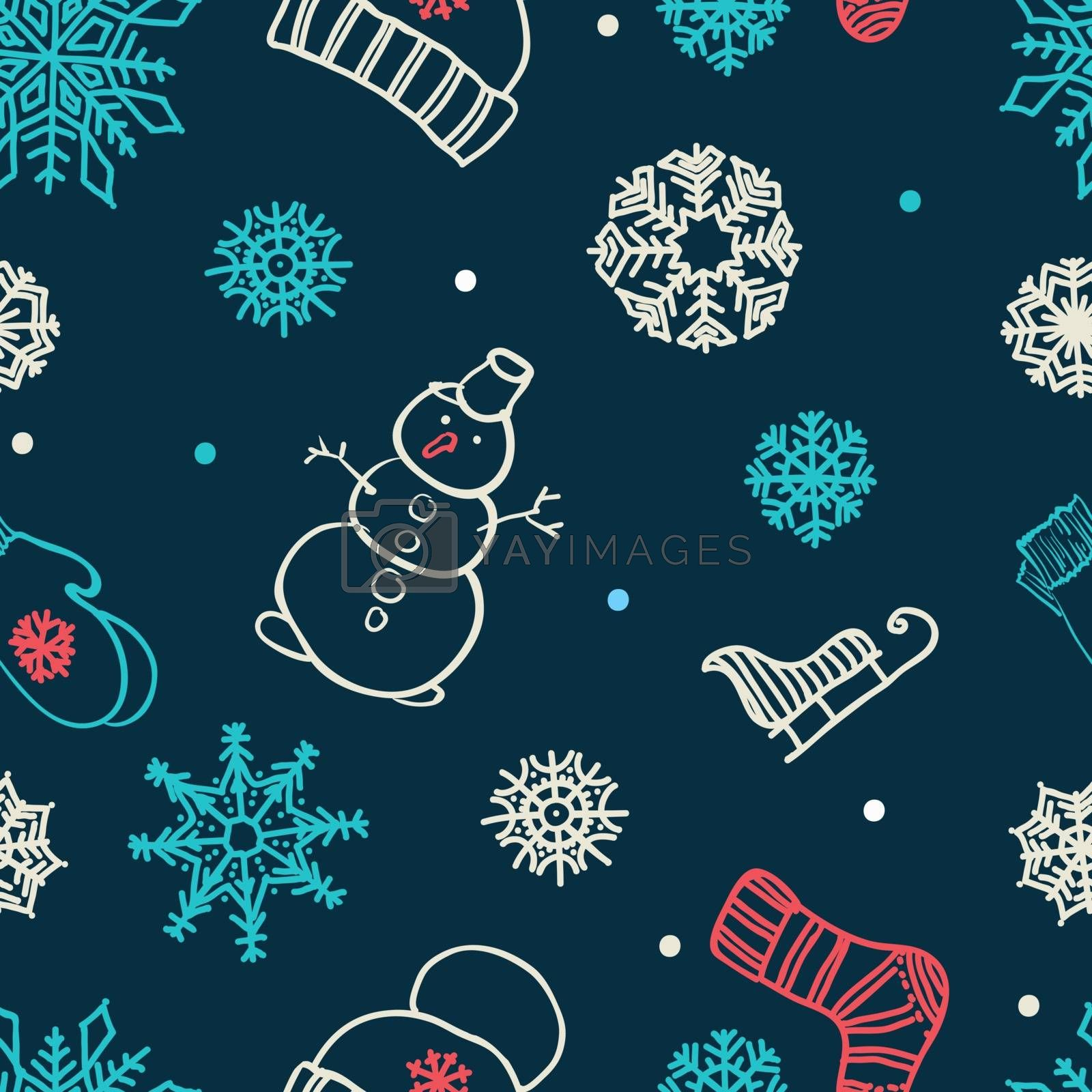 winter seamless ornament by OlgaBerlet
