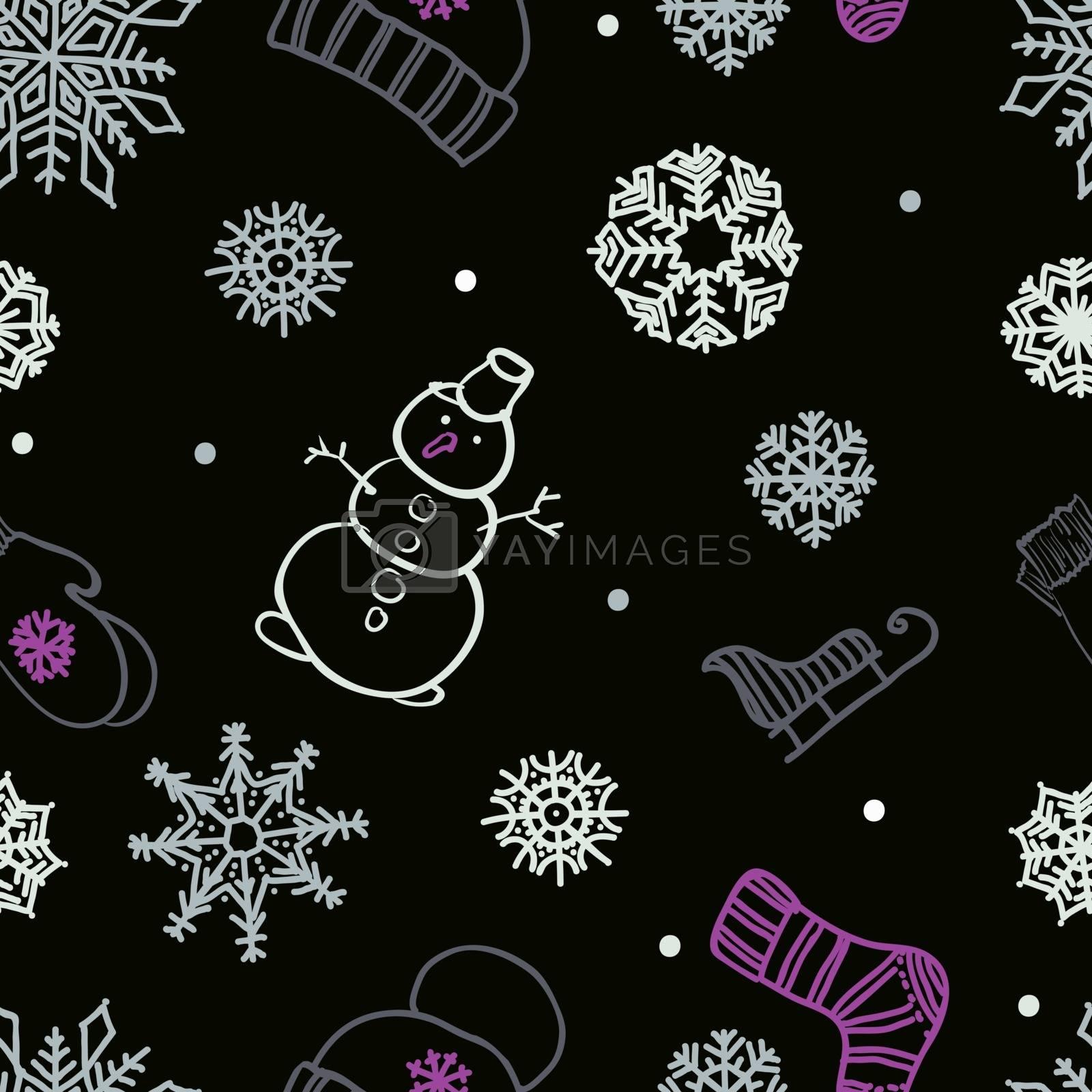 winter seamless ornament by OlgaBerlet