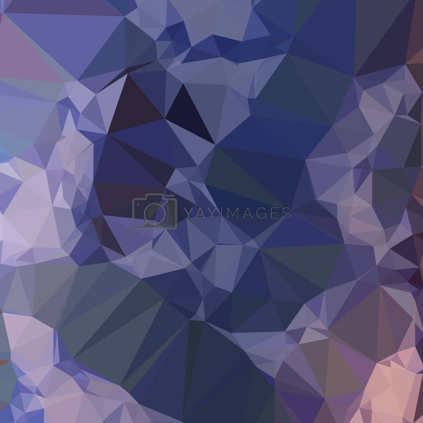 Low polygon style illustration of a bluebonnet blue orange abstract geometric background.