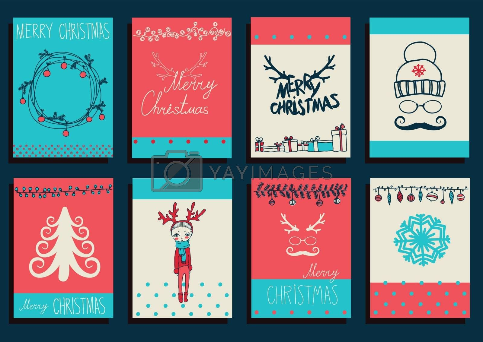 Vector Set Christmas Calligraphic Design Elements by OlgaBerlet