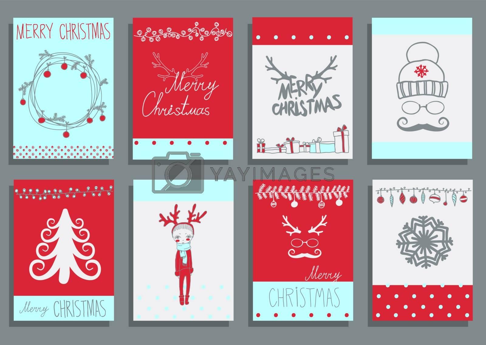 Vector Set Christmas Calligraphic Design Elements by OlgaBerlet